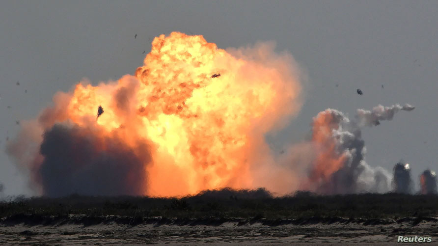 SpaceX's 2nd Starship test flight ends with another kaboom