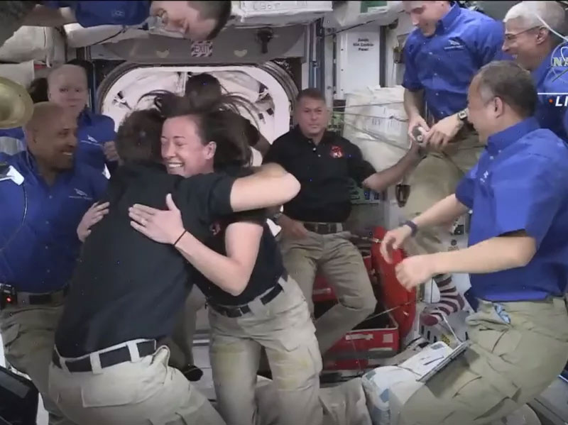 Tight Quarters Aboard The Space Station As SpaceX Capsule Delivers 4 New Arrivals